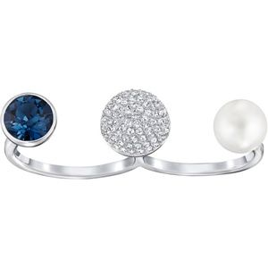 Swarovski Forward Double Ring - Size 6